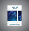 Business annual report cover design vector image