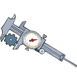 calipers vector image