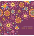 Colorful stars corner seamless pattern background vector image