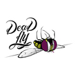 Funny cartoon dead fly vector image