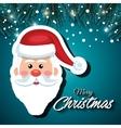 greeting santa card snowfall vector image