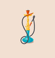 hookah for print and web vector image