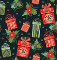 Merry Christmas gifts Seamless pattern vector image
