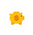 moneybox icon savings sign money box pig vector image