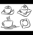 Set cup of coffee vector image