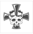 Skull and German cross vector image