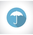 Umbrella icon with shadow vector image