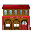 A fire station vector image