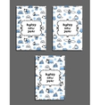 Set of happy new year card templates with arctic vector image