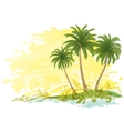 Palms and Floral Pattern vector image vector image