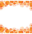 abstract orange hand drawn watercolor background vector image vector image