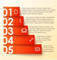 Infographics options banner numbered banner vector image vector image
