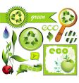 set of eco elements vector image