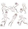 A group of soccer players vector image