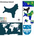 Christmas Island world map vector image