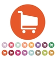 The cart shoping icon Shop Cart symbol Flat vector image