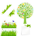 flowers and tree vector image vector image