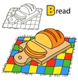 Bread Coloring book page vector image