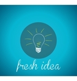 Bulb light fresh idea vector image