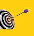 dart arrow hitting center of red target goal vector image