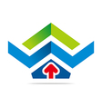 design element arrow letter w icon symbol vector image
