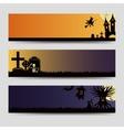Halloween banners templates set vector image
