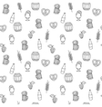 Hand drawn beer mug seamless pattern for adult vector image