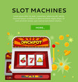 slot machine web banner isolated on green vector image