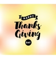 Thanksgiving day typography set vector image