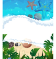 Tropical beach frame vector image