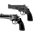 two pistols vector image