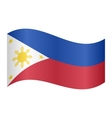 Flag of the Philippines waving on white background vector image