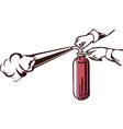 fire extinguisher hand vector image vector image