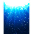 deep water bubbles dark blue color illuminated by vector image