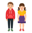 Crying kids characters vector image