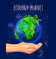 cartoon eco planet poster vector image