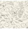 Bird and grape seamless pattern vector image