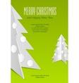 Christmas card with metallic vector image