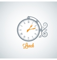 lunch clock concept background vector image