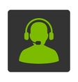 Receptionist Icon from Commerce Buttons OverColor vector image