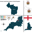 Bristol South West England vector image