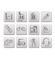internet and website icons vector image vector image