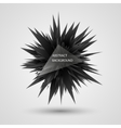 Geometric background Abstract black explosion vector image