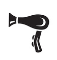 black hairdryer icon on white background vector image
