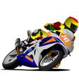 Al 0420 motorcycle 02 vector image