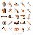 Buildings tools icons set Flat design symbols vector image