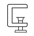 clamp icon vector image