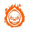 Flaming Reaper Head vector image