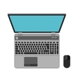 Flat design icon of laptop top view vector image