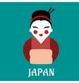 Japanese geisha woman in kimono vector image